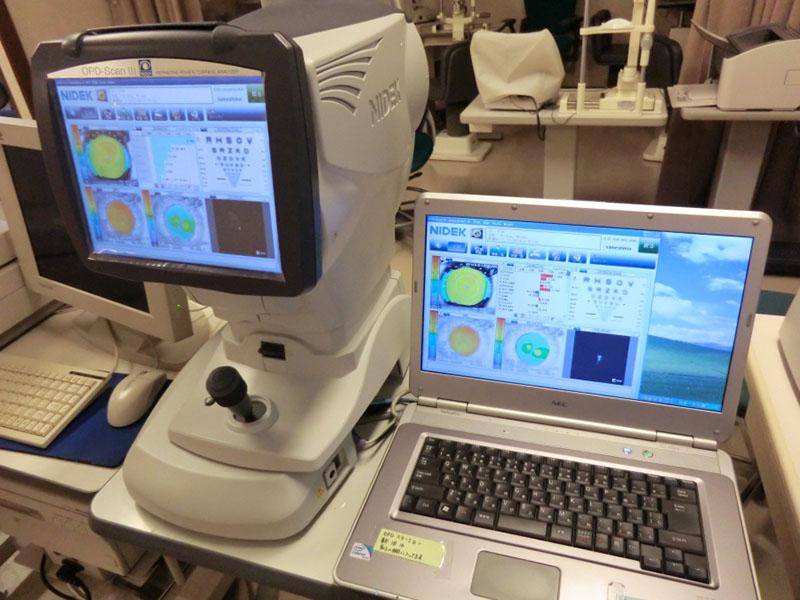 角膜形状・屈折力解析装置(OPD)